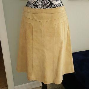 Women's leather skirt by Ann Taylor Loft